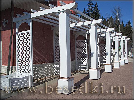 Перголы столбы колонны, беседки и навесы качественно.