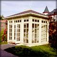 Деревянный садовый павильон