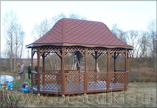 Домики деревянные для детской площадки