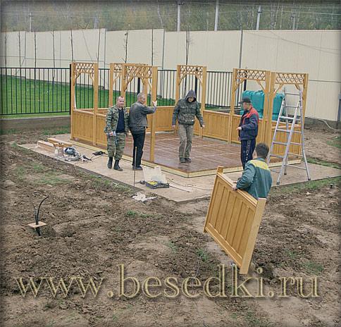 Садовые беседки в Москве  arhbesedkiru