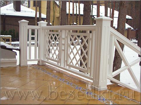Деревянные ограждения балконов и террас - остекление балконо.