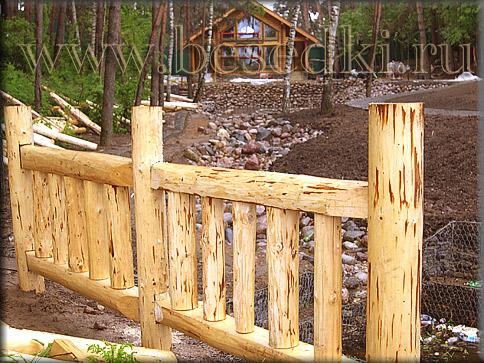 Забор рубленый деревянный з 3 1